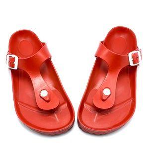 Birkenstock EVA Gizeh Sandals in Red (Rare!)